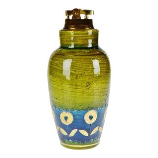 """Vintage Aldo Londi """"Thai Silk"""" for Rosenthal Netter Bitossi Gilded Italian Table Lighter For Sale"""