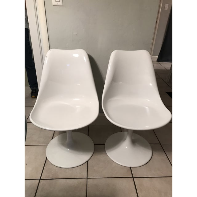 Mid Century Modern Fiberglass Side Chairs - a Pair - Image 8 of 8