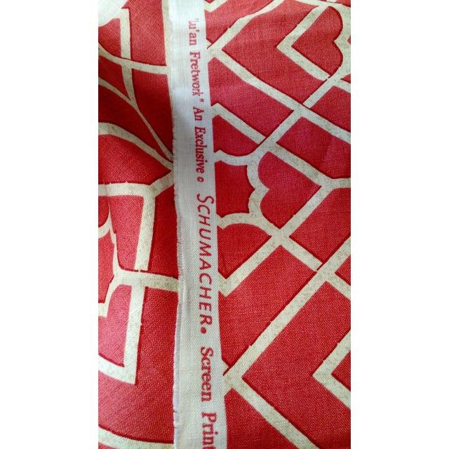 F Schumacher Luan Fretwork Linen Fabric - Image 2 of 2