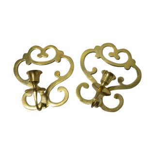 Mid-century Brass Wall Sconces For Sale