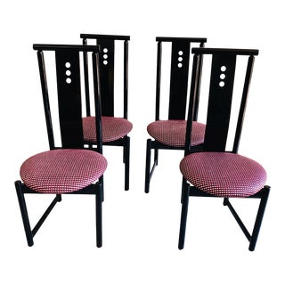 1980sPostmodern Dining Chairs- Set of 4 For Sale