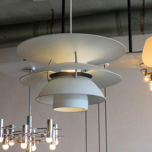 """White Poul Henningsen """"PH Charlottenborg"""" Pendant For Sale - Image 8 of 10"""