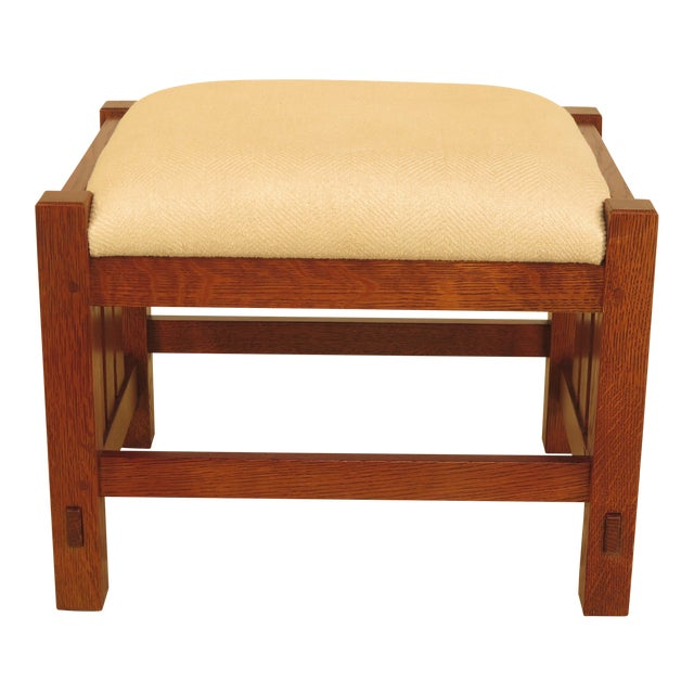 Stickley Mission Oak Arts & Crafts Ottoman - Image 1 of 9