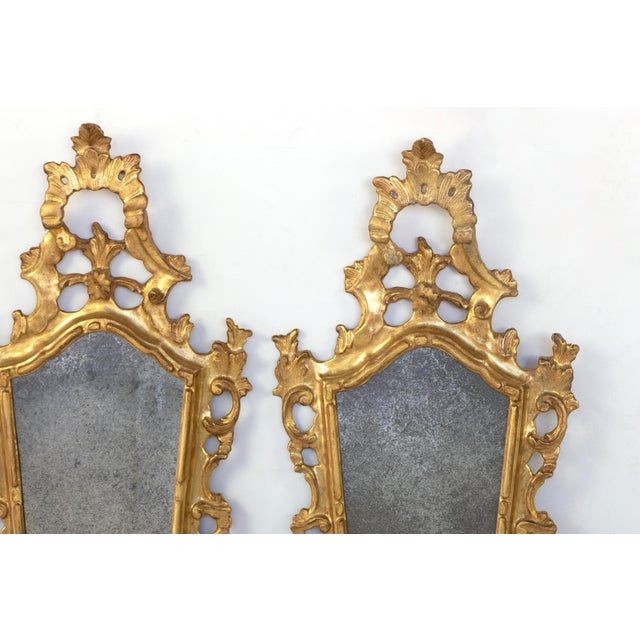 Pair of Small-Scale Carved French Rococo Style Mirrors; France, Circa 1890 For Sale In San Francisco - Image 6 of 7