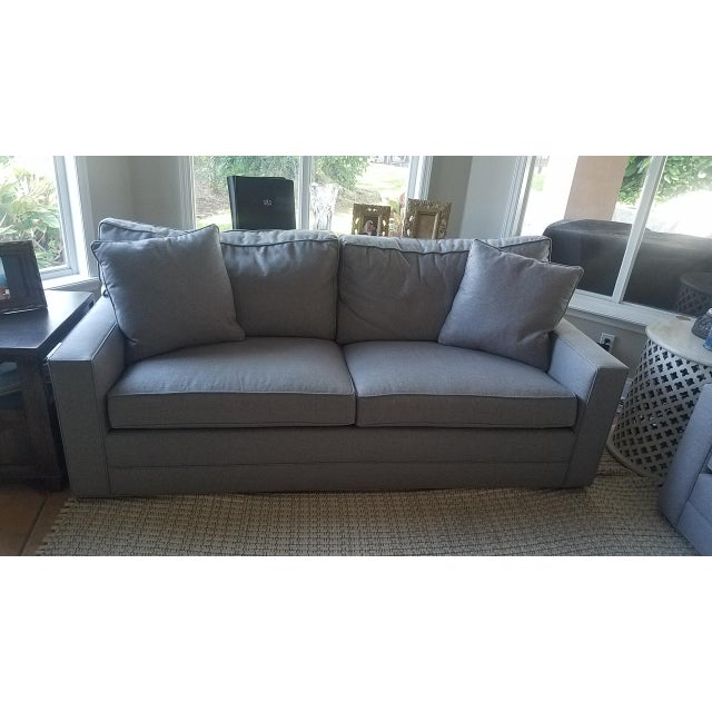 Gray Lexington Bristol Grey Performance Fabric Loveseat & Couch Sofa - a Pair For Sale - Image 8 of 13