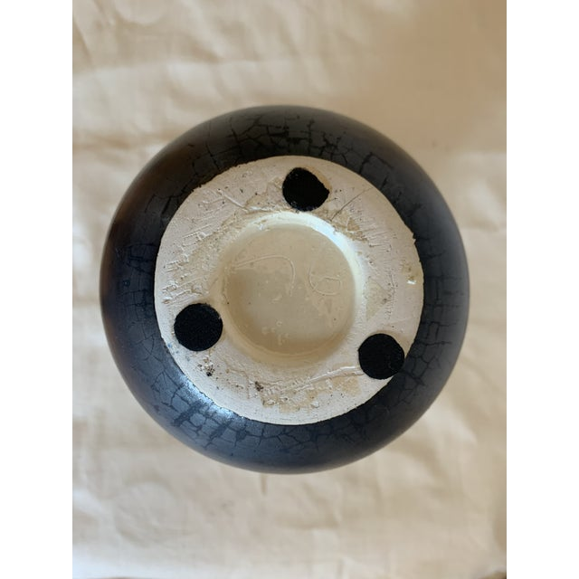 Early 21st Century Contemporary Black and White Ceramic Vase For Sale - Image 5 of 7