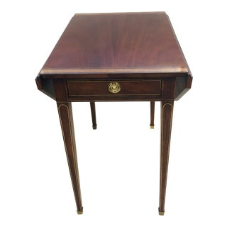 20th Century English Traditional Baker Pembroke Style Side Table For Sale