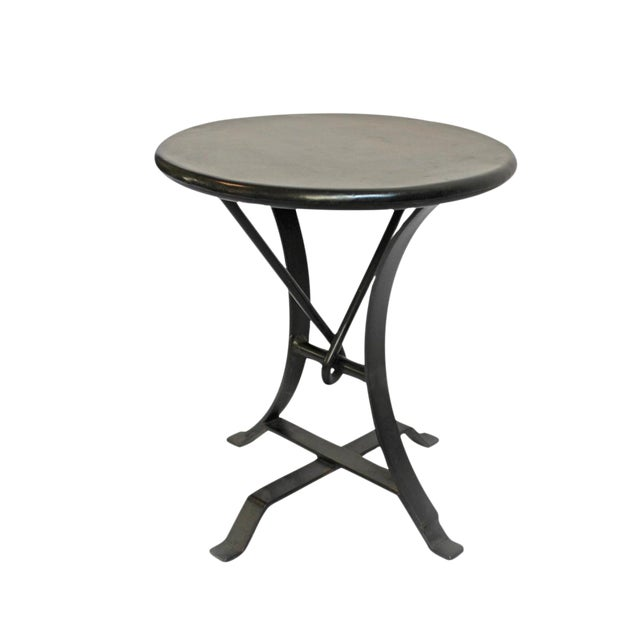 Industrial Iron Twist Stool - Image 1 of 4