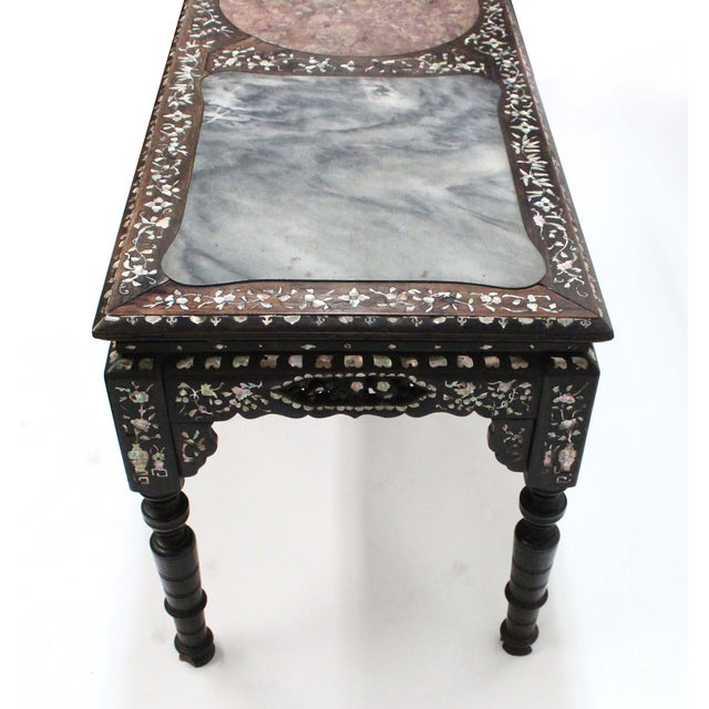 Marble & Mother of Pearl Inlay Table - Image 8 of 10