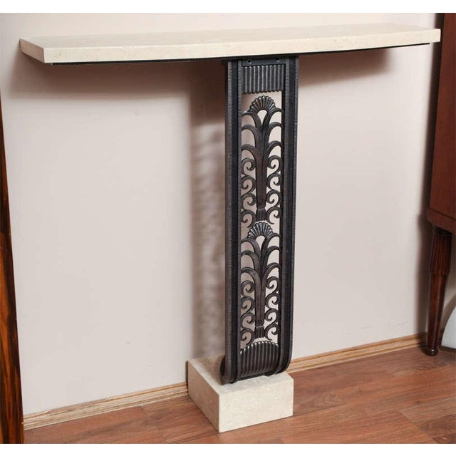 Black Modern Art Deco Style Console in the mannerof Brandt For Sale - Image 8 of 9