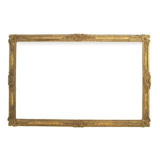 19th Century Louis XV Style Large Carved and Gilt Wood Wall Frame For Sale
