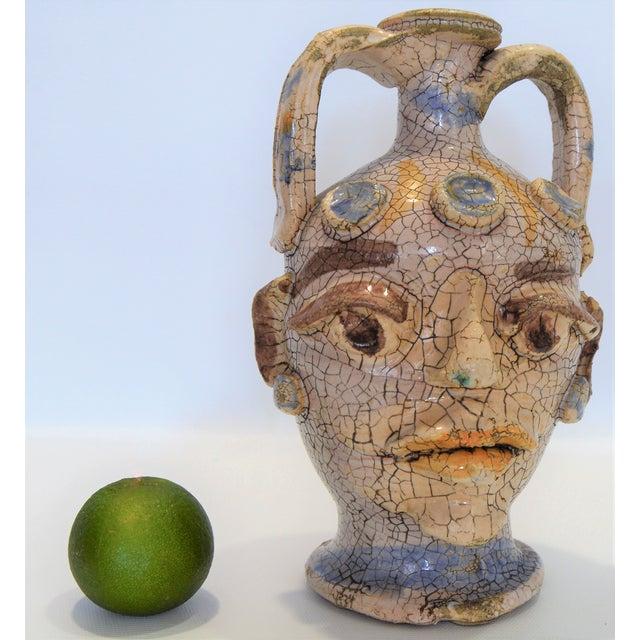 1960s Vintage Raku Ceramic Amphora Vase-Brutalist Art Pottery Mid Century Modern MCM Boho Chic Bohemian Pablo Picasso Sculpture For Sale - Image 12 of 12