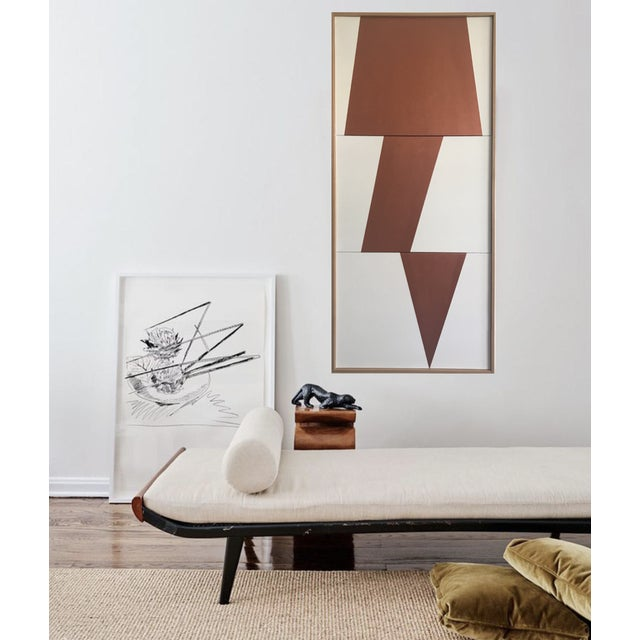 "Original Acrylic Painting ""Copper Jagged Triptych JET0491"" - Image 2 of 5"