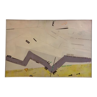 The Violet Turnpike Vintage Painting on Canvas 1966 For Sale