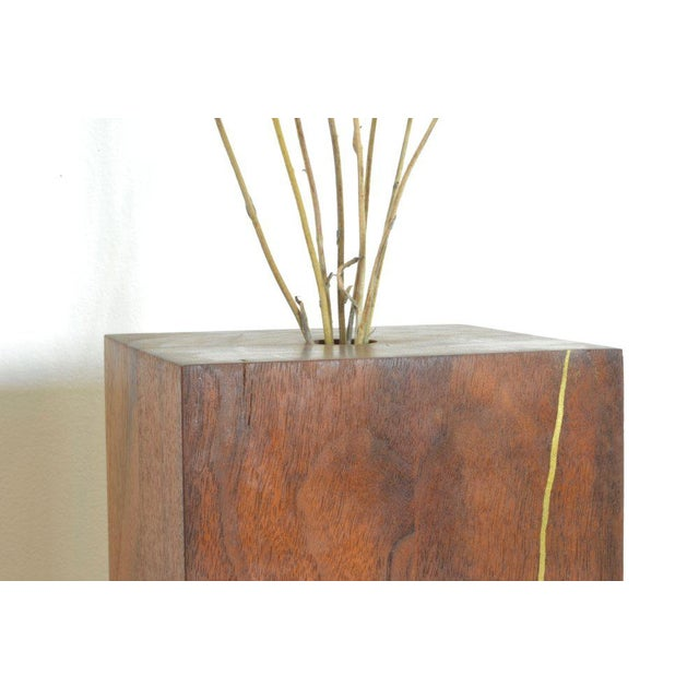 Modern Ozshop Walnut Bud Vase For Sale - Image 3 of 4