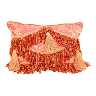 Middle Eastern Decorative Red Throw Pillow For Sale
