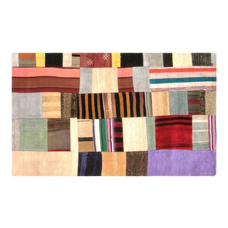 "Nalbandian - 1970s Turkish Patchwork Kilim - 3' X 5"" For Sale"