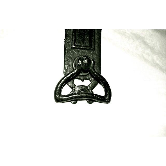 Cast Iron Nouveau Knocker W/Letter Slot For Sale - Image 4 of 10