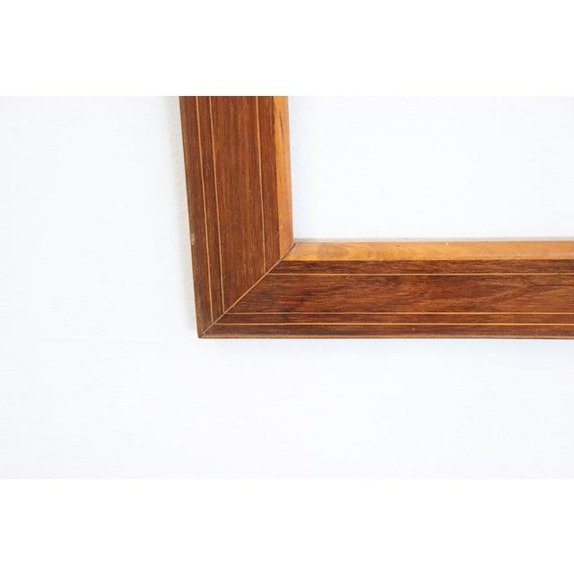 Italian 19th Century Italian Charles X Inlay Walnut Wood Frame For Sale - Image 3 of 6