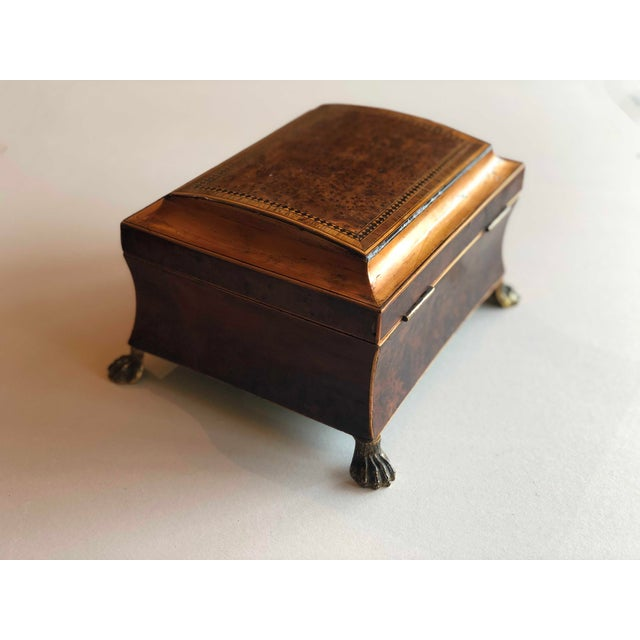 Regency Burr Yew Table Box For Sale - Image 4 of 12