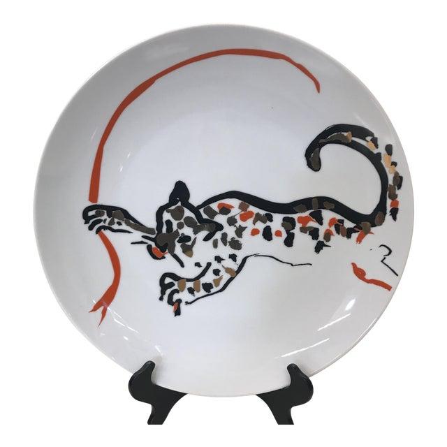 New Arcadia Studio Cheetah Plate - Dinner Size For Sale
