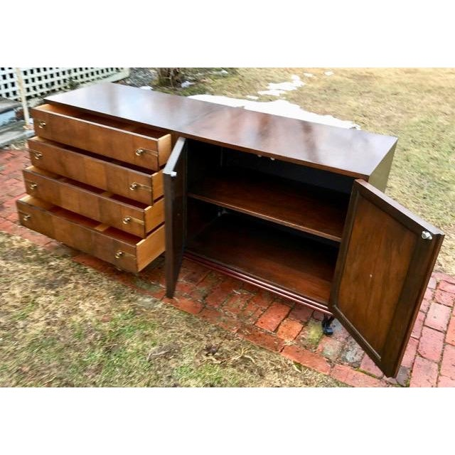 Brown Mid Century Renzo Rutili for Johnson Furniture Modular Cabinet Grouping 1950's For Sale - Image 8 of 12