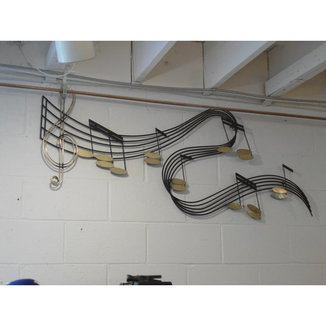 Curtis Jere Metal Musical Notes Wall Sculpture - Image 3 of 4