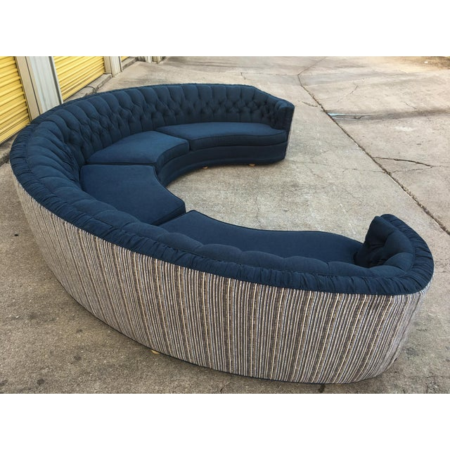 Mid-Century Semi-Circular Sectional - Image 2 of 11