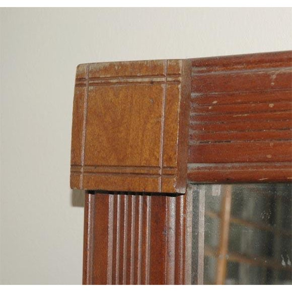19th Century. Large Floor/Wall Walnut Natural Floor Mirror For Sale - Image 4 of 6