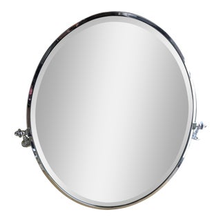 Waterworks Polished Nickel Mirror For Sale