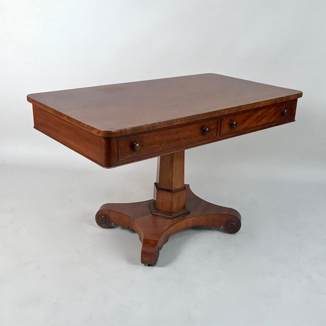 Early 19th Century 1825 George IV Mahogany Writing Desk For Sale - Image 5 of 11