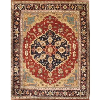 "Pasargad N Y Indian Serapi Hand-Knotted Rug - 11'9"" X 14'8"" For Sale"