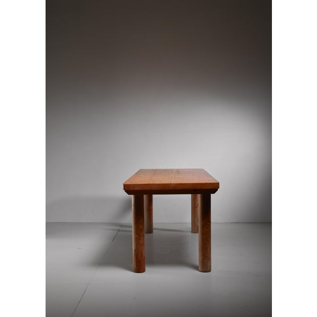 Mid-Century Modern Charlotte Perriand Pine Les Arcs Table, France, 1960s For Sale - Image 3 of 6