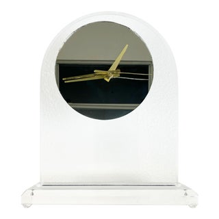 Modern Lucite Mantle Clock, 1980s For Sale