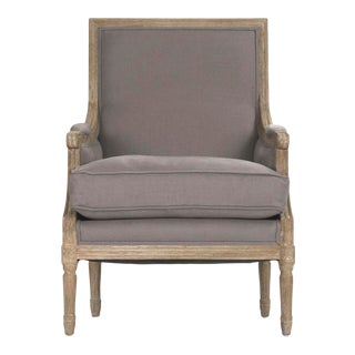 Audley Club Chair in Gray For Sale