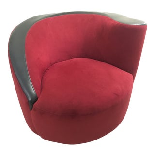 Late 20th Century Vintage Vladimir Kagan for Directional Nautilus Swivel Chair For Sale