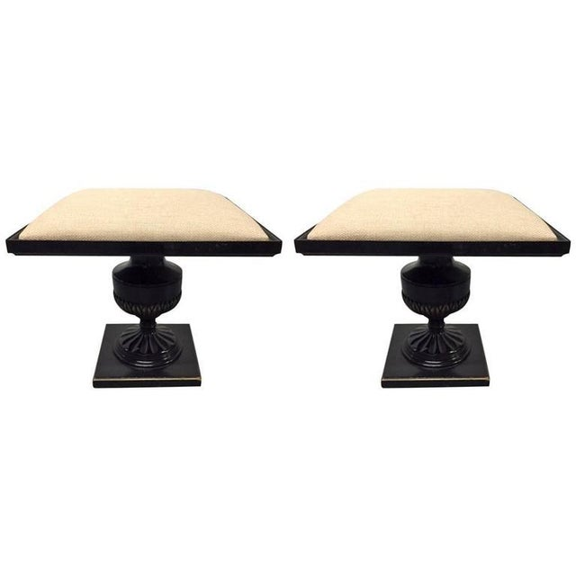 Pair of James Mont Stools For Sale In New York - Image 6 of 6
