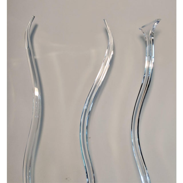 Lucite Gaetano Pesce Style Mid-Century Lucite Sculptures - Set of 3 For Sale - Image 7 of 13