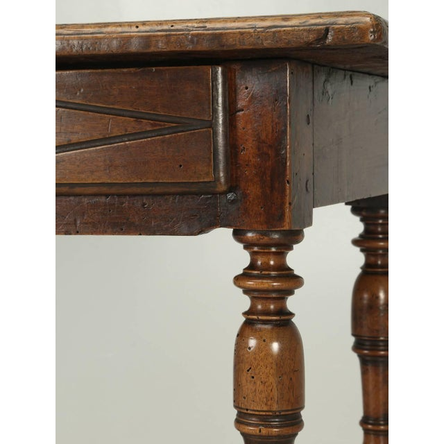 Walnut Antique Country French Side or End Table From the Early 1700s For Sale - Image 7 of 10