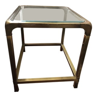 Hollywood Regency Mastercraft Brass Side Table For Sale