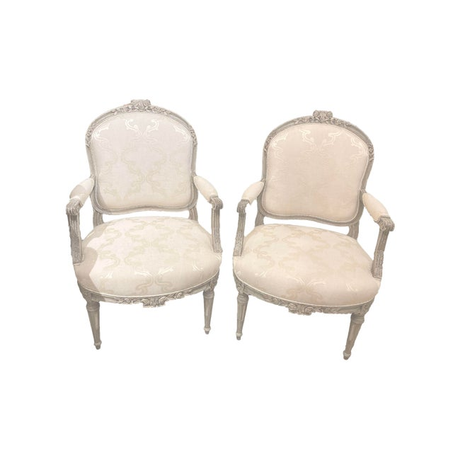 Antique Painted French Chairs For Sale