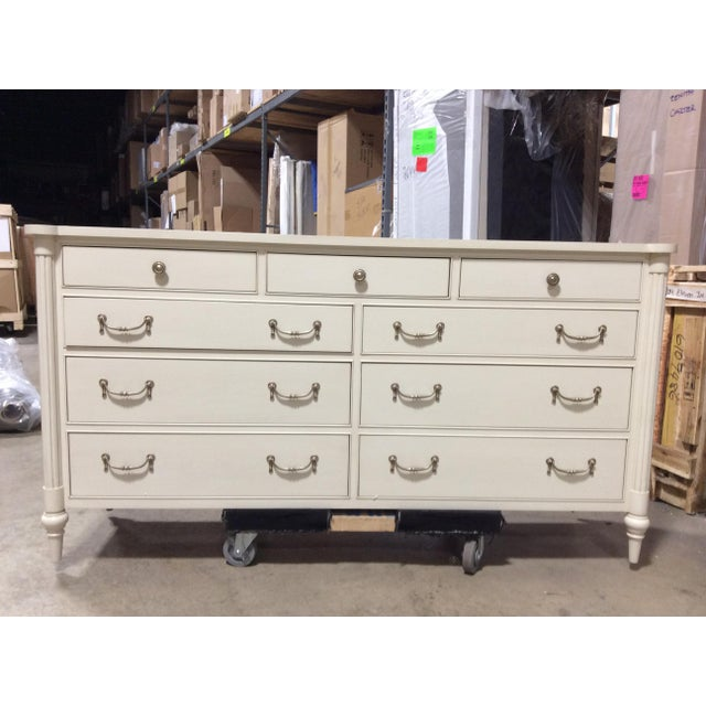 Paint Hickory Chair Antique White Bank Dresser For Sale - Image 7 of 7