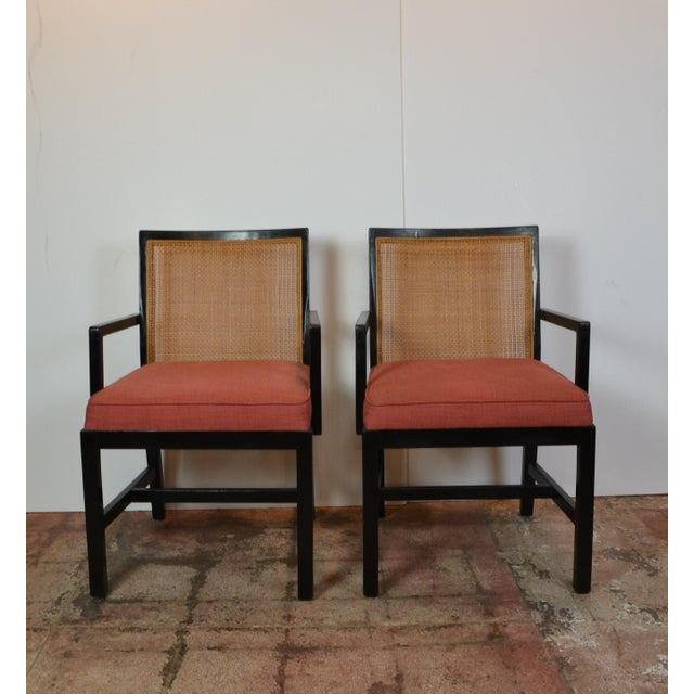 Pair of Black Frame Armchairs For Sale In Los Angeles - Image 6 of 6