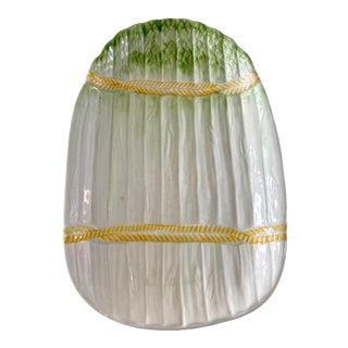 Vintage Italian Asparagus Plate For Sale