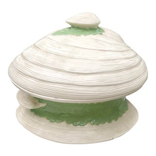 Vintage Ceramic Clam Shell Tureen For Sale