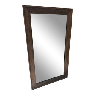 20th Century Traditional Hand Silvered Rustic Wood Framed Mirror For Sale