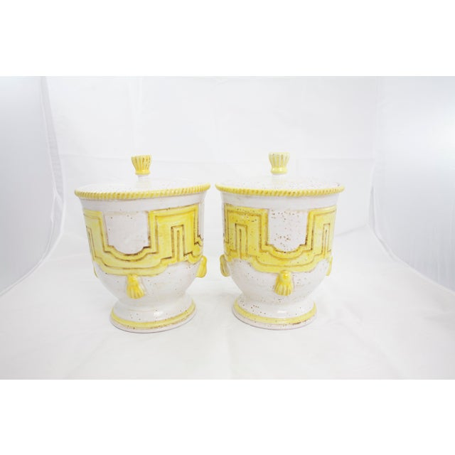 Italian Large 1950s Italian Pottery Jars For Sale - Image 3 of 11
