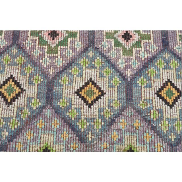 Textile Vintage Turkish Sardes Nomad's Flat Weave Rug For Sale - Image 7 of 12
