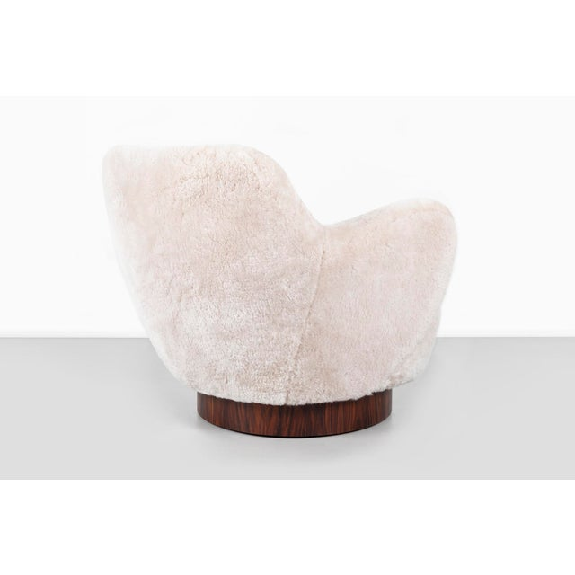 Wood Set of Vladimir Kagan for Directional Swivel Chairs For Sale - Image 7 of 12