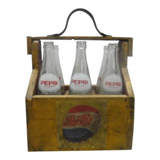Vintage Pepsi Bottles - Set of 6 For Sale